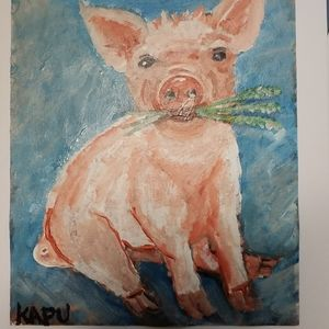 Pig on Canvas